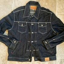 Vintage Guess Jeans Dark Blue Denim Jacket Dsn  10m 11 Size Xxl Made in Usa Photo