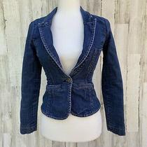 Vintage Guess Jeans Denim Fitted Jacket Blazer Women's Size Small  Photo