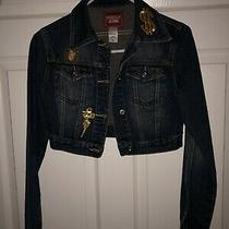 Vintage Guess Jeans Denim Jacket Size Small Blue 100% Cotton Usa Made Custom Photo