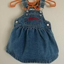 Vintage Guess Jeans Girls 12 Mnth Jumper Denim Dress Triangle Tag Skirt Overalls Photo