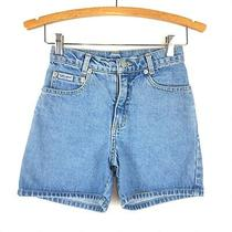 Vintage Guess Jeans Girls Youth 10 High Waist Blue Jean Shorts Womens 00 Photo