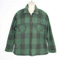 Vintage Guess Jeans Mens Shacket Size Xl Plaid Zip Up Jacket Green Photo