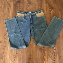 Vintage Guess Jeans Mens Size 38 Leather Jeans Medium Wash Denim 1990's Marciano Photo