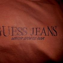 Vintage Guess Jeans Winter Sports Team Sweatshirt-S Brown/hint of Rust Photo