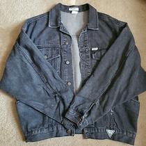 Vintage Guess Men's Black Size Small Denim Jacket Photo