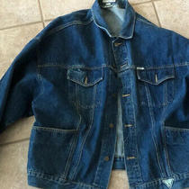 Vintage Guess Mens Dark Blue Denim Jacket Georges Marciano Made in Usa Size Xl Photo