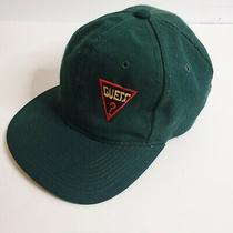 Vintage Guess Strapback Cap Hat 90s Green Adult Size Adjustable Photo