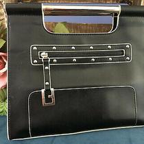 Vintage Guess Top Handle Black Handbag Photo