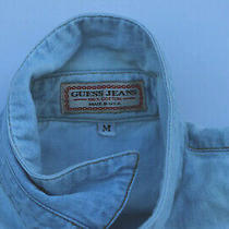 Vintage Guess Womens Denim Jean Shirt Sleeveless Size M Made in Usa Photo