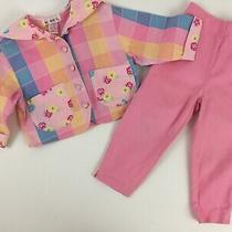 Vintage Gymboree Girls Small 2t 3t Spring Bloom Jacket Pant Set Pink Floral  Photo