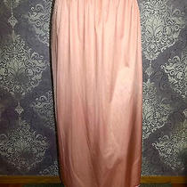 Vintage Half Slip Silky Nylon Bali Maxi Long Length Blush Petticoat Lingerie L Photo
