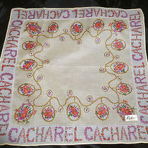 Vintage Handkerchief Cacharel Paris Designer Hanky Big Original Design Estate Photo