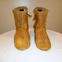 Vintage Handmade Leather Moccasins / Boots Native American Mens Size 10 Photo