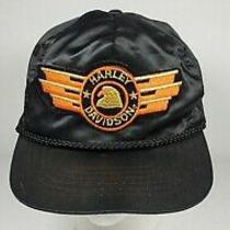 Vintage Harley Davidson Motorcycle Eagle Stars Patch Nylon Biker Hat Motorcycle Photo