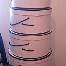 Vintage Hat Boxes Nesting Set of 4 Black & Ivory E. M. Payne Company Beckley Wv Photo