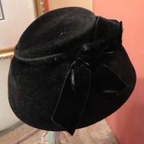 Vintage Hat Deluxe Velour Merrimac Body the J.l. Hudson Company Old Black Photo