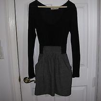Vintage Havana Black & Gray Dress Size Small Photo
