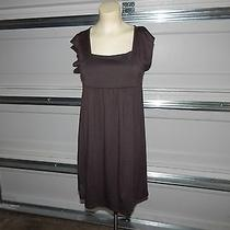 Vintage Havana Brown Cotton Dress Size M Photo