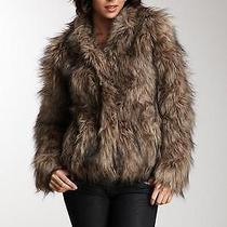Vintage Havana Brown Faux Fur Cropped Jacket Size Medium Nwt Photo