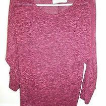 Vintage Havana Burgundy Lightweight Long Sleeve Pullover Sweater Size M Photo