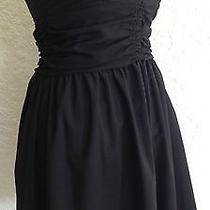 Vintage Havana Dress Strapless Black Size Small Photo
