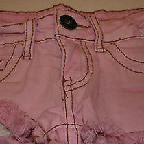 Vintage Havana Girls Distressed Pink Denim Shorts Size 7 - Euc  Photo