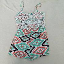 Vintage Havana Girls Sleeveless Dress/shorts Size Xl  Multicolor New Retail 58 Photo