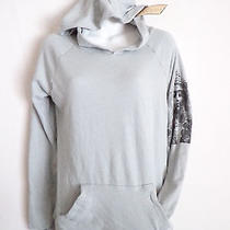 Vintage Havana Gray Hoodie Sweatshirt Top Lakshmi Back Print Design  Size L Nwt Photo