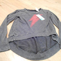 Vintage Havana Gray Top With Pink Lightening Bolt.  Size Large Nwt Photo