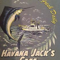 Vintage Havana Jack's Cafe T-Shirt Fishing Surfing Beach  Photo