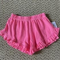 Vintage Havana Kids Neon Pink Little Girl Ruffled Shorts - Size 5 Photo