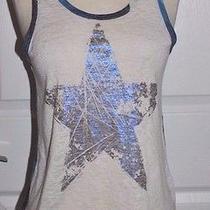 Vintage Havana Knit Sleeveless Tank Top Medium Metallic Painted Star Photo