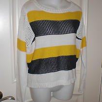 Vintage Havana Mixed Fabric Striped Sweater Sz S  Fun to Wear Photo