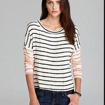 Vintage Havana New Ivory Slub Striped Long Sleeves Pullover Sweater S Retail 64 Photo