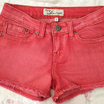 Vintage Havana Premium Denim Salmon Pink Shorts 1 Es-100 Photo