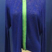 Vintage Havana Sweatshirt M Medium Royal Blue Zip Up Sweatshirt Photo