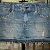 Vintage Havana Trendy Distressed Mini Denim Skirt S Photo
