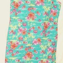 Vintage Hawaiian  Dress Christie Brooks  Aqua  Florals      Xl   16    Girl Photo