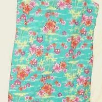 Vintage Hawaiian  Dress Christie Brooks  Aqua  Florals      Xl   16    Girl Photo