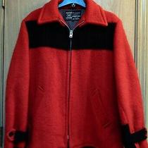 Vintage Hbc Genuine Hudson's Bay Point Blanket Coat Jacket Heavy Wool 42 Red Photo