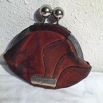Vintage Heavy Leather Fifty Four Fossil Clutch Snap Fasten Coin Purse Wallet Photo