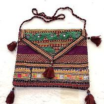 Vintage Hobo Shoulder Bag Tapestry Fabric Traditional Patch Work Bag Bohemian  Photo