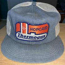 Vintage Hopcaid Thermogas K Brand Denim Mesh Trucker Snapback Hat Cap Patch Usa Photo