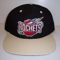Vintage  Houston Rockets Snapback Hat One Size by Twins Enterprise Inc. Nwt Photo