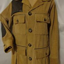 Vintage Hudson Bay Herters Mens Duck Hunting Jacket Leather Corduroy Sz 44 Lg Photo