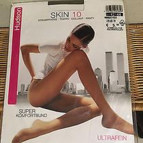 Vintage Hudson Nude Skin 10 Tights Pantyhose W/ Model 42-44 Med Photo