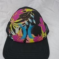Vintage Hurley Trucker Mesh Snapback Hat Cap Hawaiian Hat Bright Neon Colors L20 Photo