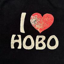 Vintage I Love Hobo Graphic T-Shirt Unique Novelty Shirt Size Large Photo