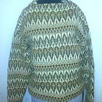 Vintage Iceland Sweden Jerry Modeller Lambs Wool Sweater Nordic Ski Sz 12/42 Photo