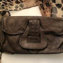 Vintage Ikks Brown Lamb Leather Small Flap Handbag Clutch Purse Photo